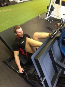 James Pickering's re-hab is accelerated by the new leg press