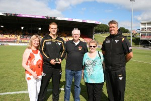 Ross Oakes U19's POM July 2016 presented by Maureen and Geoff Hammond